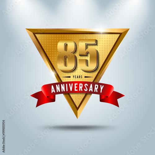 Poster  85 years anniversary celebration logotype