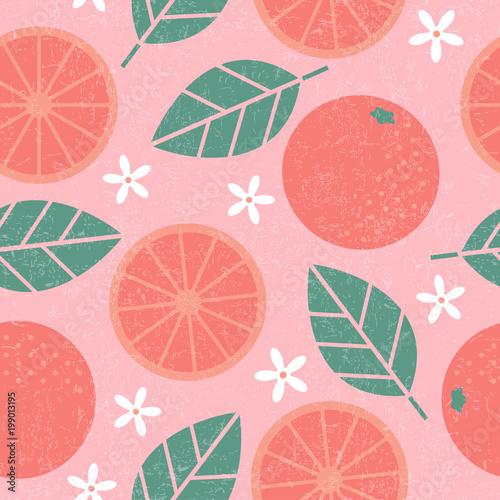 wzor-rozowe-grapefruitowe-soczyste-owoc-liscie-i-kwiaty-na-podlawym-tle