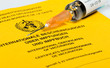 Leinwandbild Motiv vaccination certificate