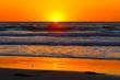 canvas print picture - Orange Sunset