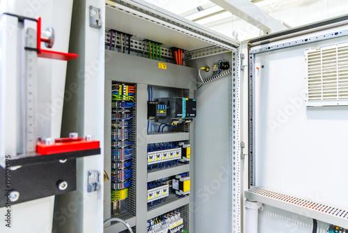 Fotografía Power distribution control panel. Electricity.