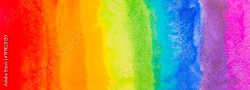 Tablou Canvas rainbow spectrum watercolor paint splash background