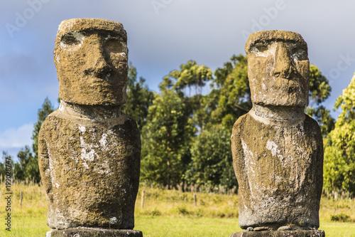 Ahu Akivi, los famosos Moais mirando al mar en Isla de Pascua
