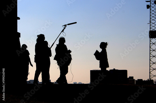 Fotografie, Obraz Film Crew Silhouette