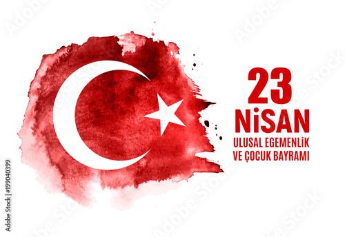 Fotografia  23 April Children's day (Turkish Speak: 23 Nisan Cumhuriyet Bayrami)