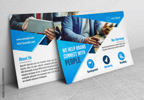 Business postcard layout with blue accents buy this stock template business postcard layout with blue accents cheaphphosting