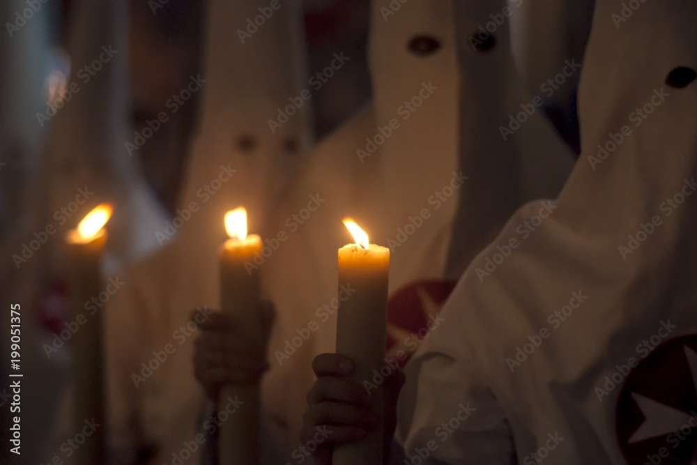 Fototapety, obrazy: Semana santa de Sevilla, los penitentes