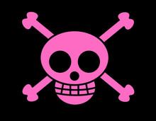 海賊旗(ドクロピンク)