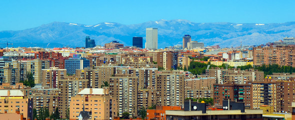 Skyline of Madrid City (Spain)