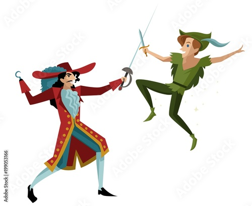Photo  hook captain sailor with sword