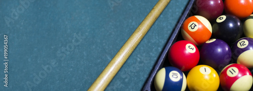 Fotografiet billiard pool snooker
