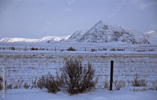 Fotografía  Winter Scene Saskatchewan Badlands