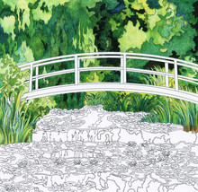 Illustration Of Adult Coloring Template