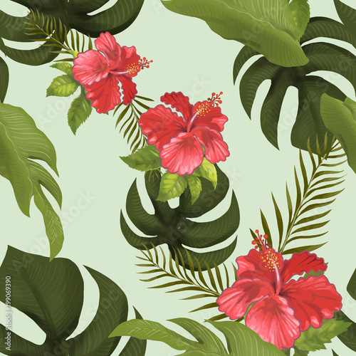 Hand drawnd tropical forest isolated
