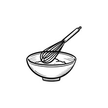 Mixing Bowl With A Wire Whisk ...