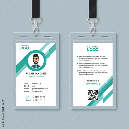 company identity card design template buy this stock vector and