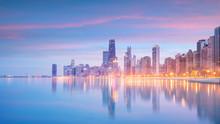 Downtown Chicago Skyline At Su...