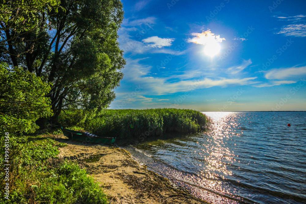 Picturesque, the Sniardwy lake (The Masurian Sea) in Nowe Guty. Poland