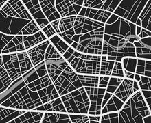 Black And White Travel City Ma...