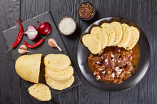 Czech Beef Goulash Served On P...