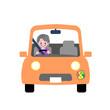 シニア女性 安全運転