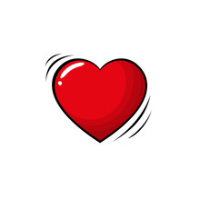 Colorful Pop Art Retro Heart, ...