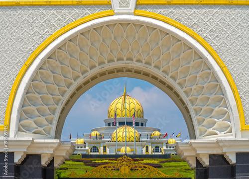 Canvas Prints Kuala Lumpur Putra Mosque, in Putrajaya federal territory, Kuala Lumpur, Malaysia.