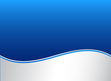 Abstract Stripe Wave Lines Graphic Blue And White Gradient Color Background.