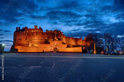 Plakat Zamek w Edynburgu w nocy