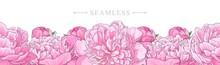 Elegant Pink Peonies Border Se...