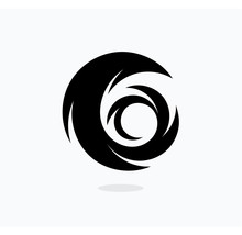 Hurricane Icon Template. Swirl...