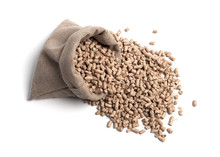Feed For Livestock. A Bag. Large Granules Crumbled.
