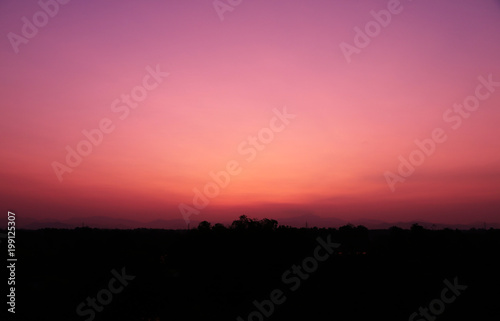 In de dag Candy roze beautiful Ultra Violet purple Evening sky