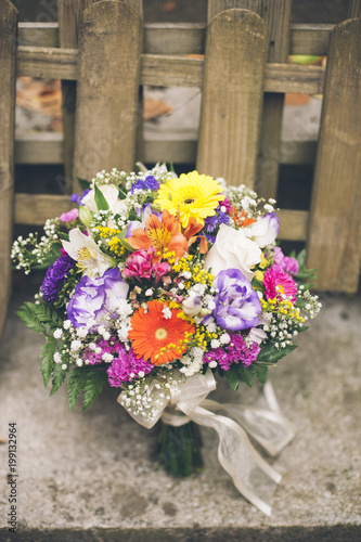 Foto op Canvas Bloemen Bunch of flowers
