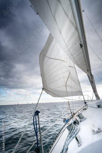 Fotografia Sailboat deck and seascape