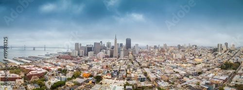 Canvas Prints San Francisco San Francisco skyline panorama, California, USA