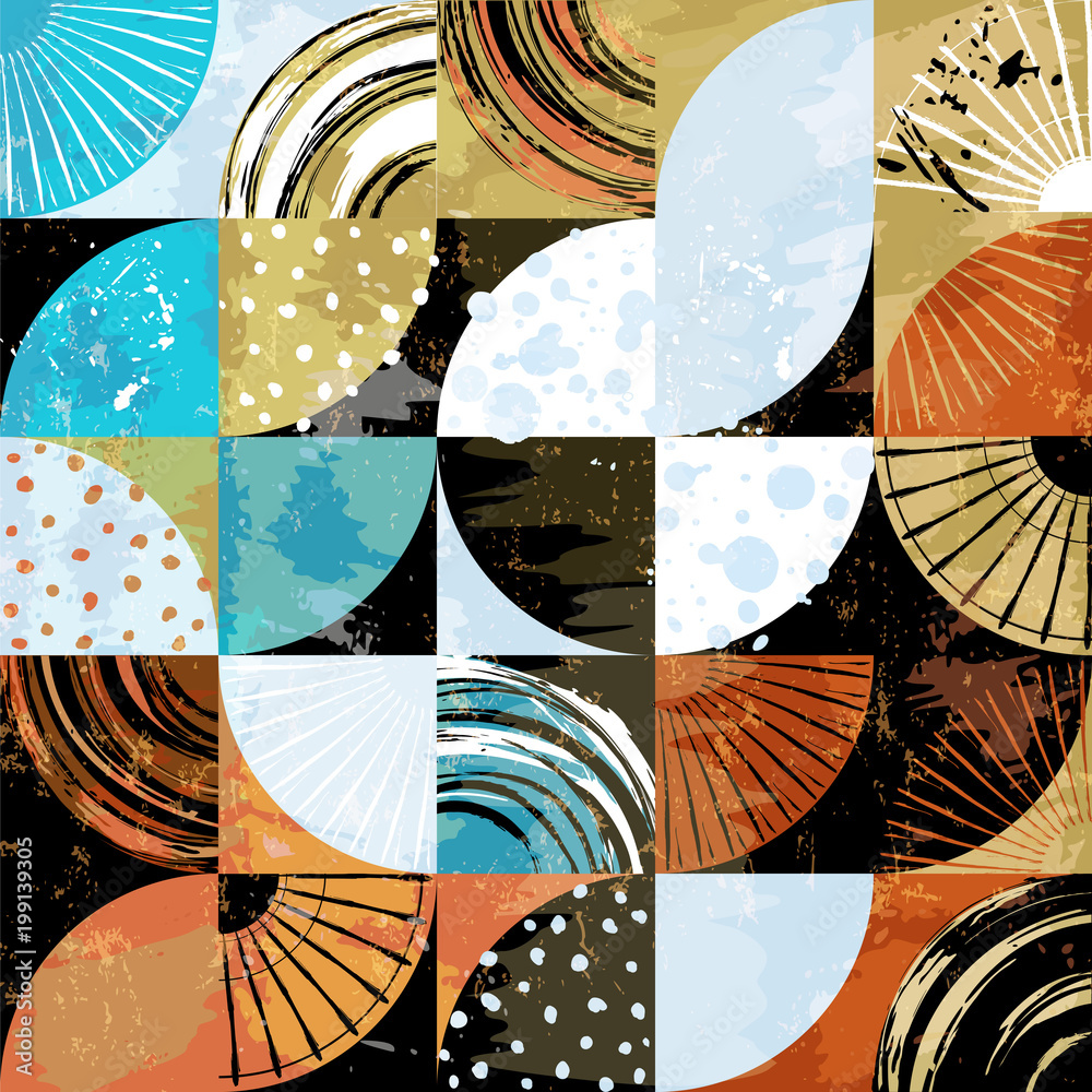 Photo Art Print Abstract Background Pattern With Circles