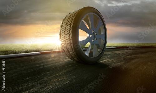 Reifen auf Rennstrecke Tapéta, Fotótapéta