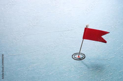 pin target red flag