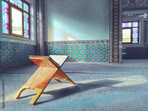 Quran in the Turkish mosque