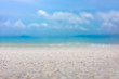 The blur cool sea background ,Abstract summer background Blur summer white sand beach with sparkling sea water.