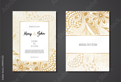 Fototapety, obrazy: Happy Easter lettering background with realistic golden shine decorated eggs