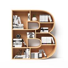 Bookshelves 3d Font. Alphabet ...