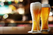 canvas print picture - fresh cold beer