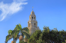California Tower Overlooking Balboa Park In San Diego, California.