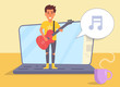 Online learning to play guitar Vect