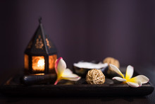 Thai Massage Spa Equipments With Copy Space