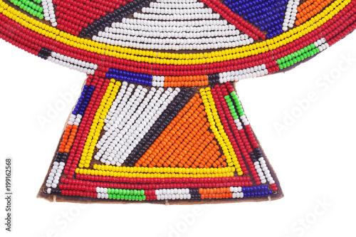 regard détaillé 87f7c c38f2 collier massaï traditionnel en perles de verre multicolores ...