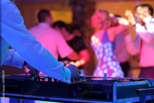 Fotografia  Dancing couples during party or wedding celebration