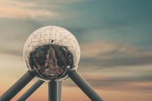 Atomium In Brussels In Front O...